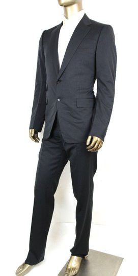 Gucci Dark Blue Wool Signoria Suit Guccissima Lining 2 Button 56r/Us 46r 221536 4140 Groomsman Gift Image 2