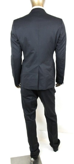 Gucci Dark Blue Wool Signoria Suit Guccissima Lining 2 Button 56r/Us 46r 221536 4140 Groomsman Gift Image 3