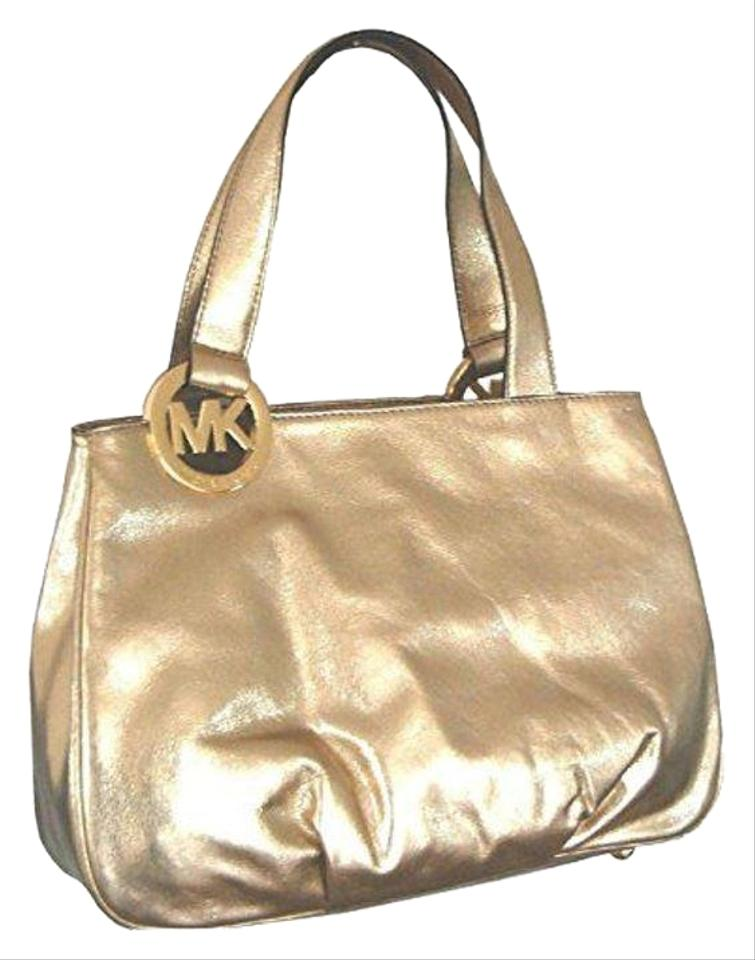 91956947616c Michael Kors East West Fulton Large Pale Gold Leather Tote - Tradesy