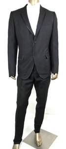 Gucci Black Wool/Mohair Signoria Suit 2 Button 58r/Us 48r 371277 Tuxedo
