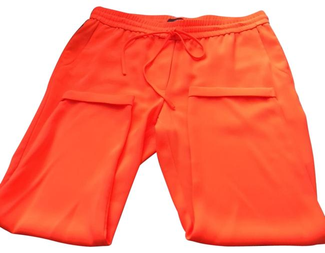 Item - Bright Orange Pull On Trousers Ankle Pants Size 12 (L, 32, 33)