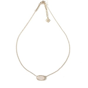 Kendra Scott Brand New Kendra Scott Elisa Necklace in Silver Iridescent Drusy