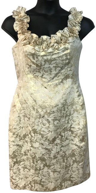 Preload https://img-static.tradesy.com/item/23649126/london-times-beigegold-shirred-trim-neck-detail-poly-metallic-short-night-out-dress-size-12-l-0-2-650-650.jpg