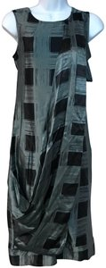 KAS New York short dress Dark Green/Black Shift on Tradesy
