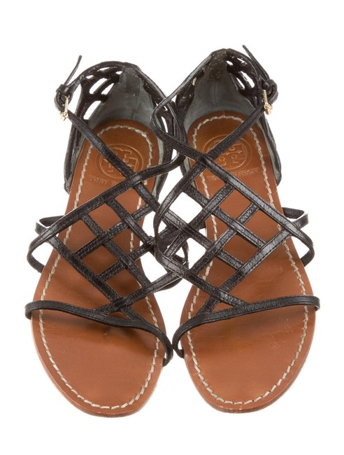 Tory Burch Black Caged Strappy Sandals Size US 5.5 Regular (M, B) Tory Burch Black Caged Strappy Sandals Size US 5.5 Regular (M, B) Image 1