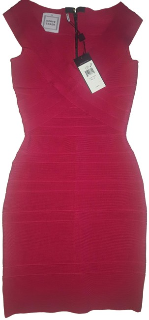 Preload https://img-static.tradesy.com/item/23649248/herve-leger-red-rouge-bodycon-cocktail-short-night-out-dress-size-2-xs-0-3-650-650.jpg