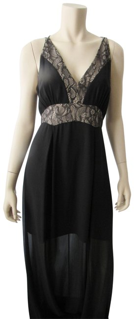 Preload https://img-static.tradesy.com/item/23649415/bcbgeneration-black-neck-full-length-lace-up-evening-gown-long-cocktail-dress-size-8-m-0-1-650-650.jpg