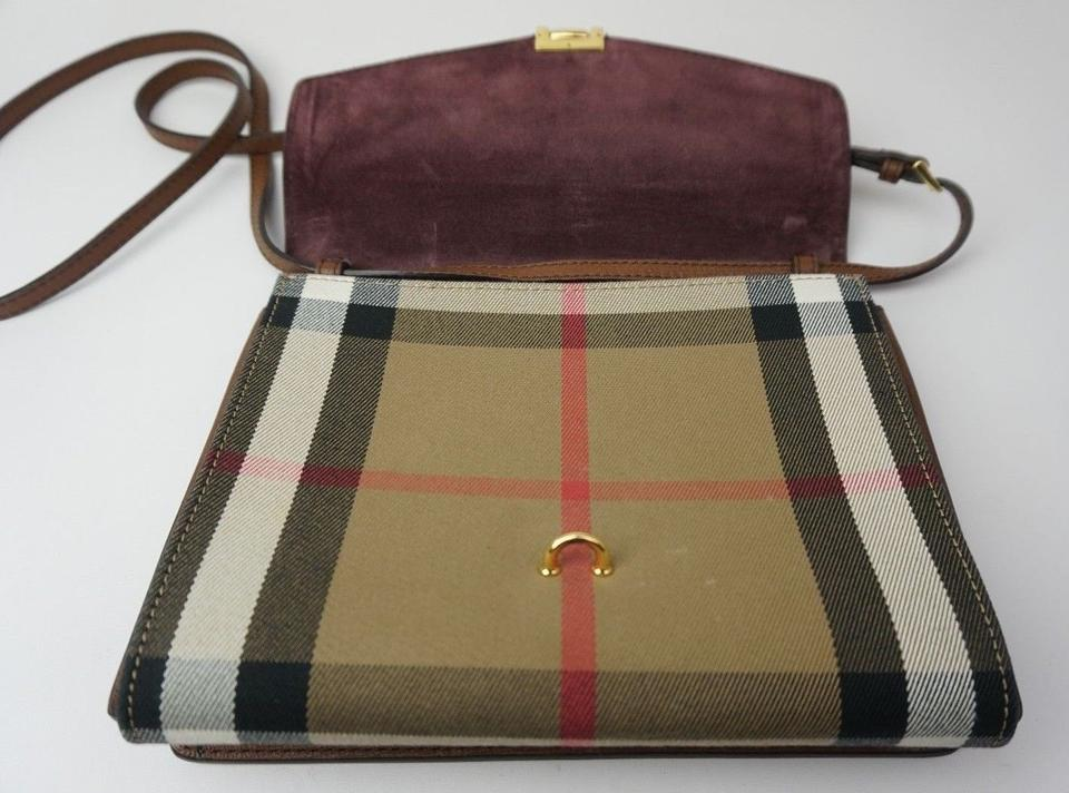 a3df47adc9fd Burberry House Check Derby Small Macken Tan Brown Leather and Canvas Cross  Body Bag - Tradesy