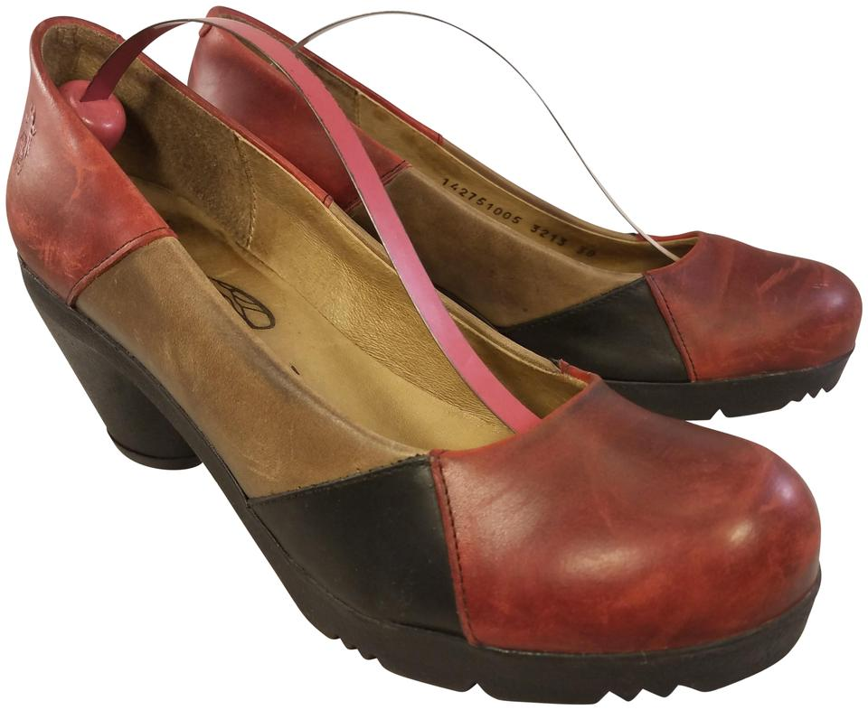 ladies FLY selling London Brown/Red Classics Pumps selling FLY price c11d09