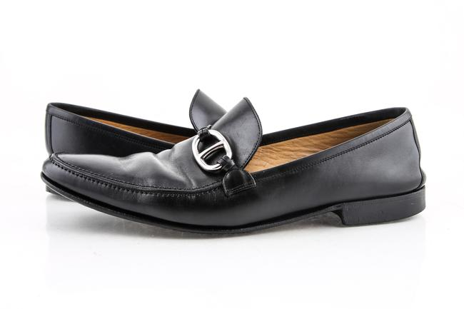 Item - * Black Leather Loafers Shoes