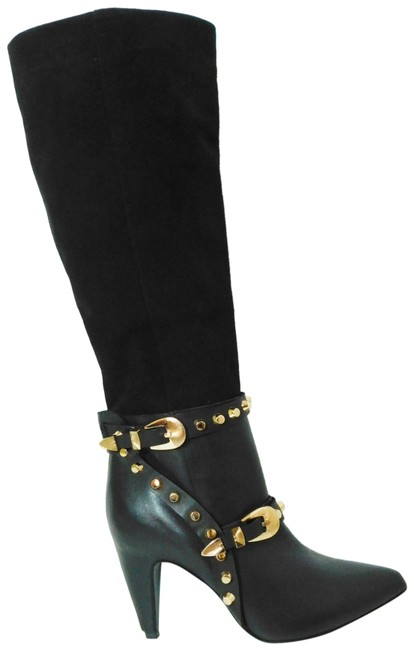 Ivy Kirzhner Black New Parachute Leather Stud Knee High Boots/Booties Size EU 37.5 (Approx. US 7.5) Regular (M, B) Ivy Kirzhner Black New Parachute Leather Stud Knee High Boots/Booties Size EU 37.5 (Approx. US 7.5) Regular (M, B) Image 1