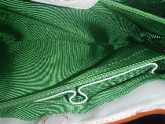Elliott Lucca Shopping Trimleather Shellratan Hand Shoulder Weekend Beach Cluthes Tote in Green