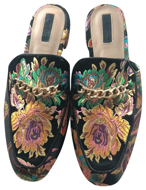 Item - Gold/Black/Pink/Green Flats Size US 7 Regular (M, B)