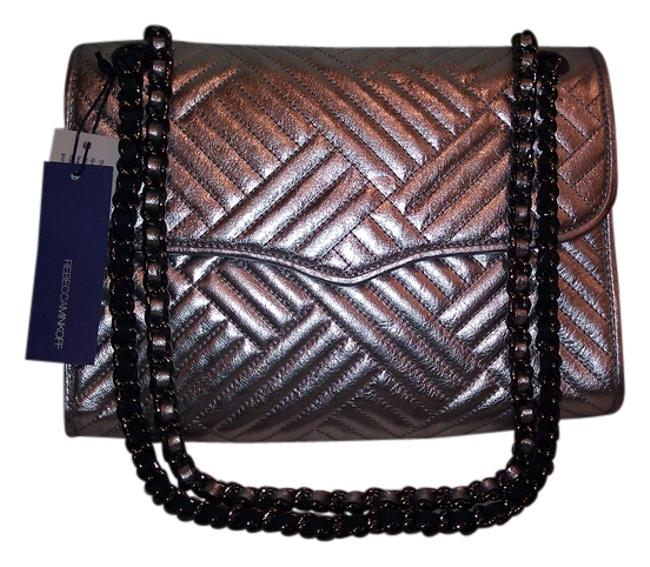 Item - Crossbody New Quilted 'affair' Silver Leather Shoulder Bag