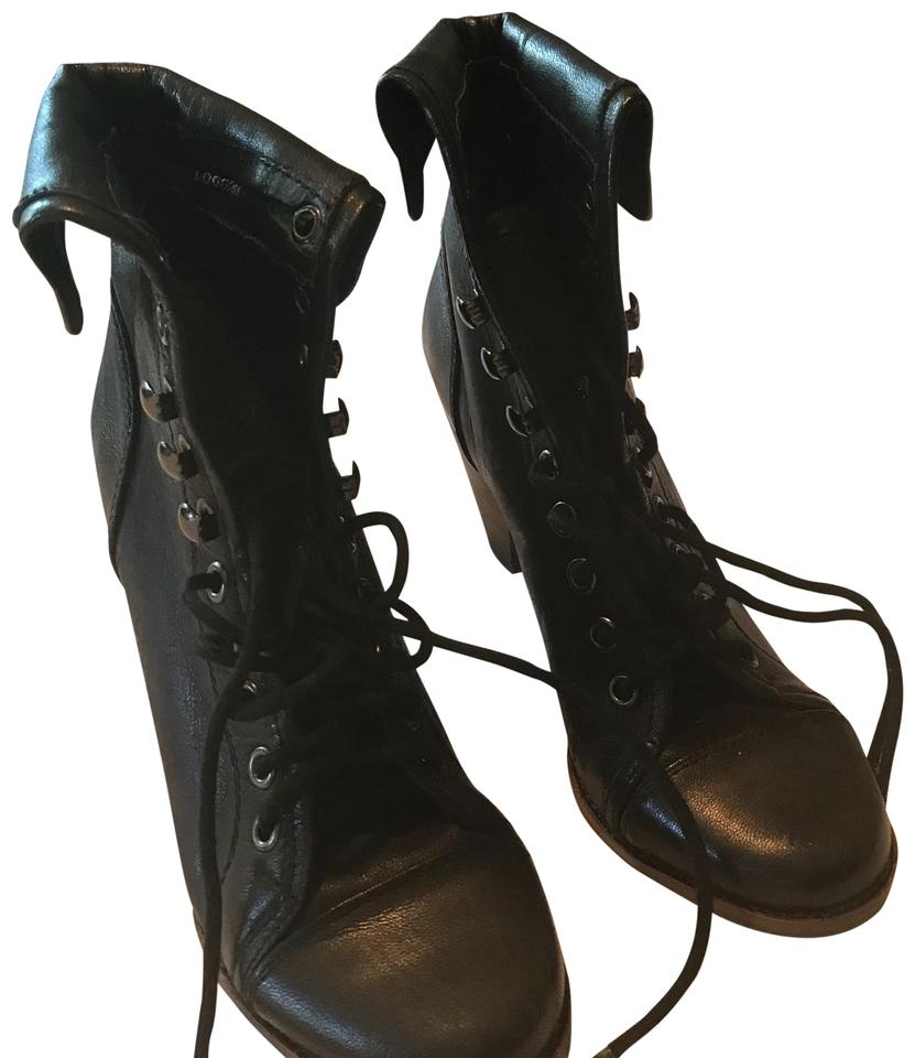 womens the Jeffrey Campbell Black Loggins Boots/Booties Special promotions at the womens end of the year fac9f7