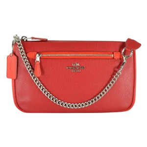 Coach Wristlet Leather Nolita Handbag True Red/Orange Clutch