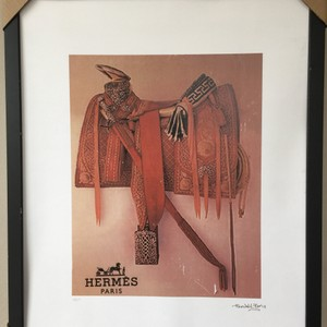 Hermès Orange Wall Art Southwestern Saddle By Fairchild Paris Decoration