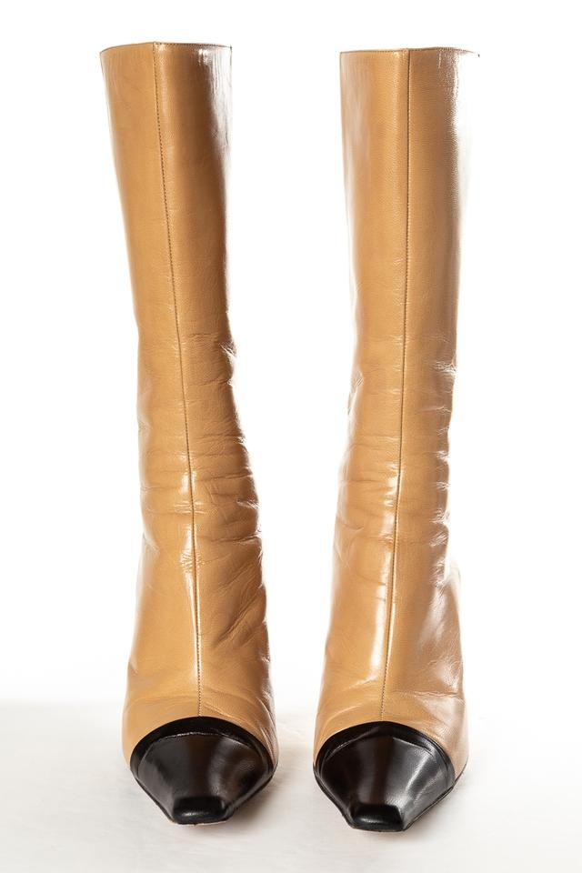 Tan Boots Mid Leather amp; Booties Black calf Choo Jimmy Hw5qpp