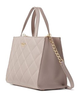 Kate Spade Sam Emerson Place Quilted Leather Pxru8597 Satchel in Bone Gray