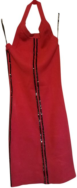 Preload https://img-static.tradesy.com/item/23650158/bebe-sport-red-with-black-trim-sequin-halter-night-out-dress-size-8-m-0-2-650-650.jpg