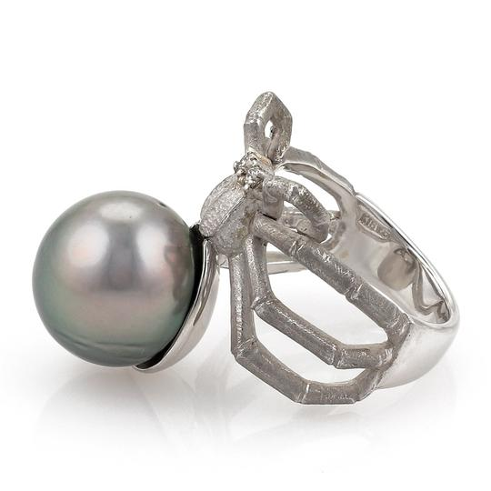 Other Grey Pearl Diamond 18k Gold Spider Ring Image 2