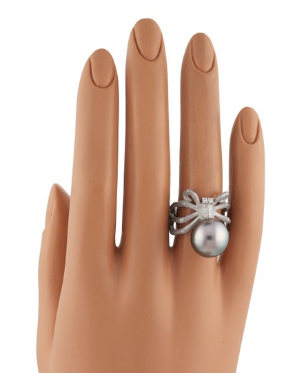 Other Grey Pearl Diamond 18k Gold Spider Ring Image 4