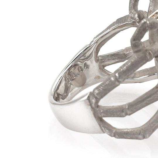 Other Grey Pearl Diamond 18k Gold Spider Ring Image 6