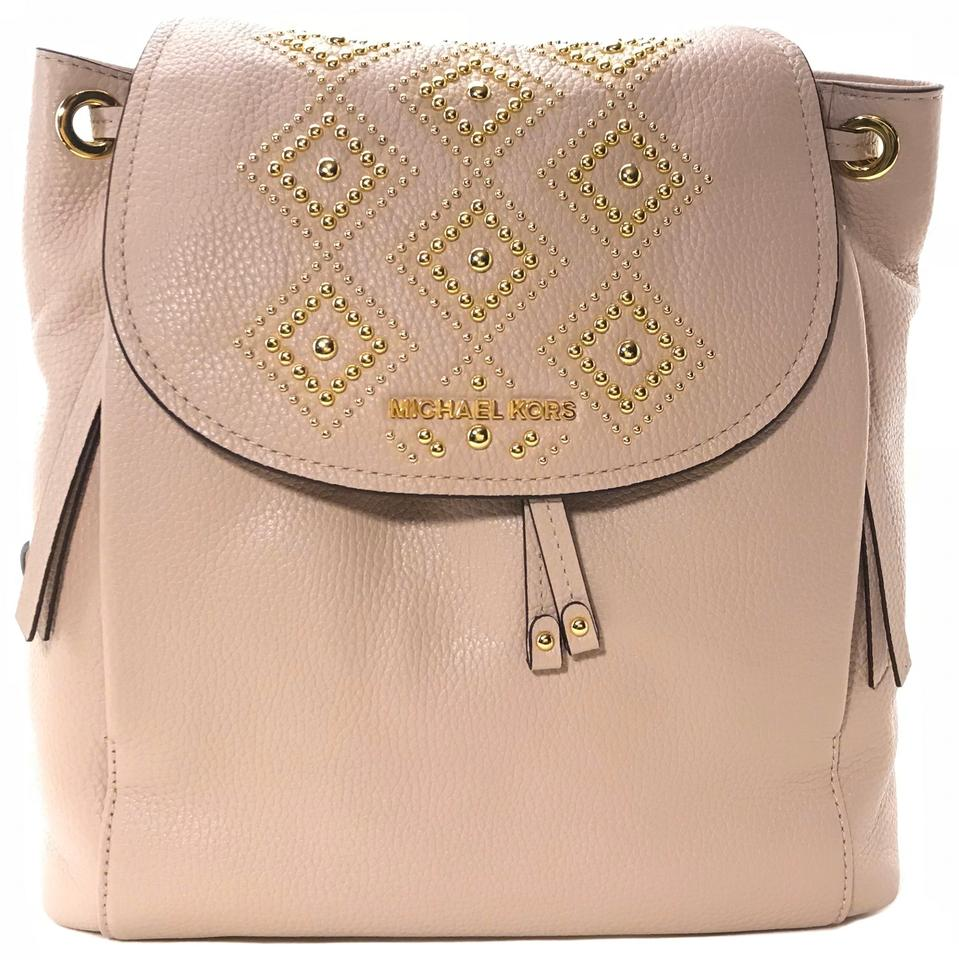 40232e857d60 Michael Kors Riley Large Studded Pink Leather Backpack - Tradesy