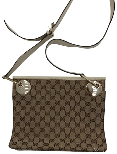 Preload https://img-static.tradesy.com/item/23650678/gucci-gg-canvas-beige-and-brown-leather-cross-body-bag-0-1-540-540.jpg