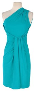 MICHAEL Michael Kors One Shoulder Ruched Fitted Dress