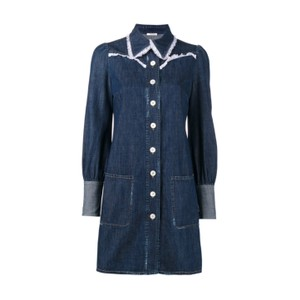 Miu Miu short dress blue denim on Tradesy
