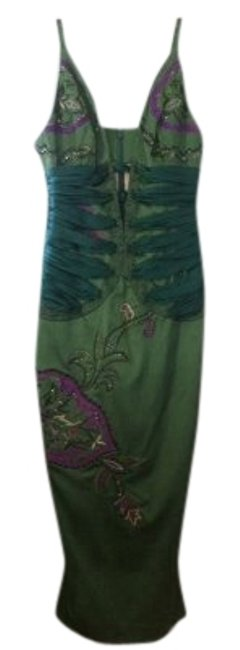 Preload https://img-static.tradesy.com/item/23651/mandalay-green-silk-and-embroidery-sultry-but-classy-emerald-head-turner-mid-length-cocktail-dress-s-0-1-650-650.jpg