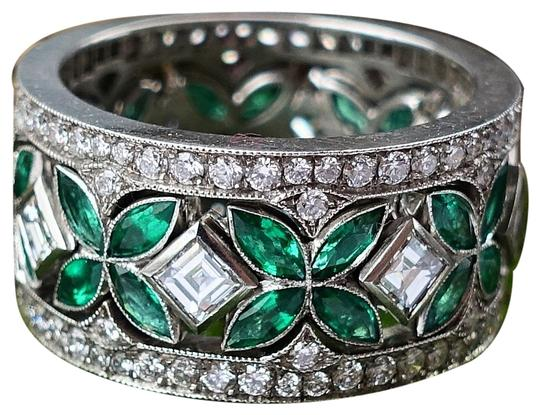 Preload https://img-static.tradesy.com/item/23651029/green-three-in-one-emerald-and-diamond-stackable-set-platinum-ring-0-1-540-540.jpg