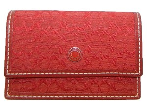 Coach ~New~COACH Soho Red Mini Signature Card Wallet