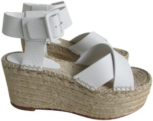 1a5ecd3a6058f White Céline Sandals - Up to 90% off at Tradesy