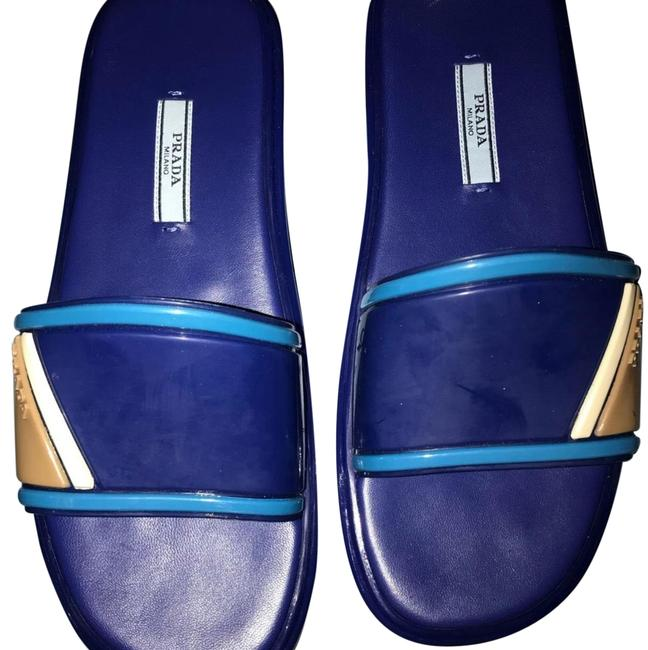 Item - Blue and Turquoise Calzature Donna Sandals Size US 8.5 Regular (M, B)
