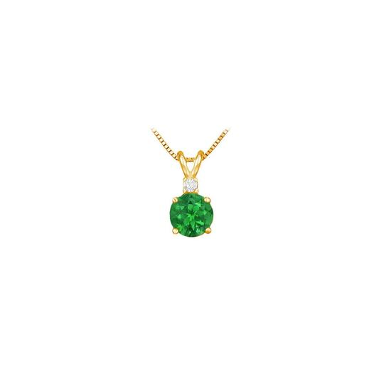Preload https://img-static.tradesy.com/item/23651211/green-may-birthstone-emerald-round-pendant-with-cubic-zirconia-in-gold-verme-necklace-0-0-540-540.jpg