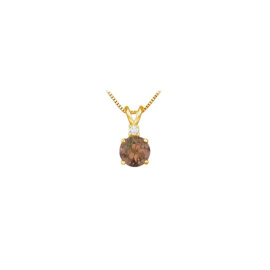 Preload https://img-static.tradesy.com/item/23651308/brown-june-birthstone-smoky-quartz-round-pendant-with-cubic-zirconia-in-gold-necklace-0-0-540-540.jpg