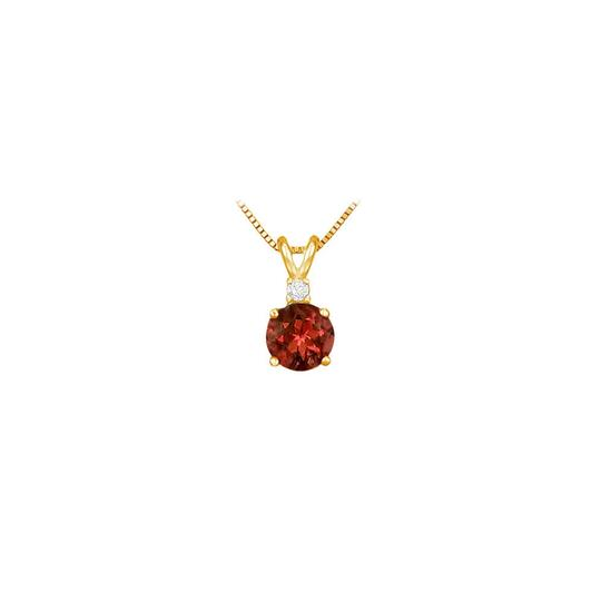 Preload https://img-static.tradesy.com/item/23651340/red-january-birthstone-garnet-round-pendant-with-cubic-zirconia-in-gold-ve-necklace-0-0-540-540.jpg