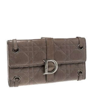 Dior Dior Beige Cannage Leather Long Wallet