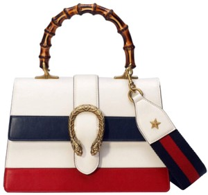 Gucci Satchel in White/blue/red