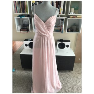 Hayley Paige Blush Chiffon Feminine Bridesmaid/Mob Dress Size 10 (M)