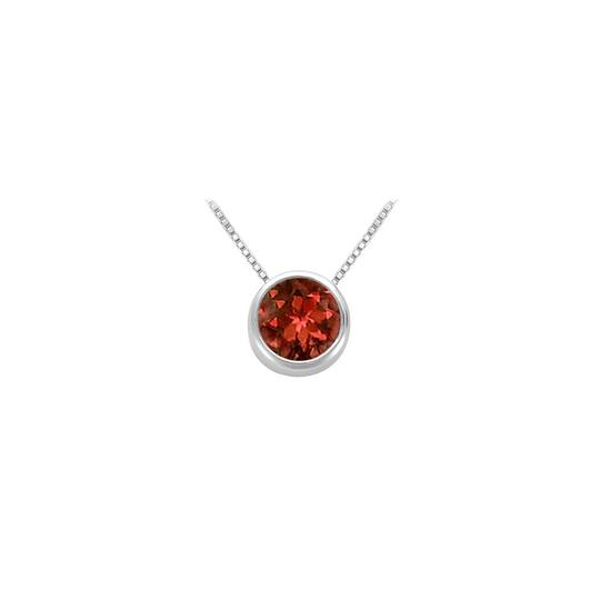 Preload https://img-static.tradesy.com/item/23651564/red-garnet-bezel-set-solitaire-pendant-925-sterling-silver-100-ct-tgw-necklace-0-0-540-540.jpg
