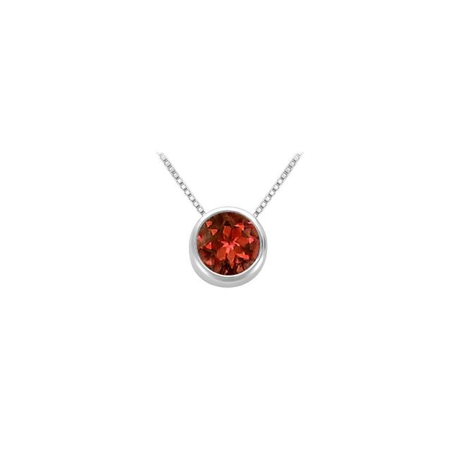 Red Garnet Bezel Set Solitaire Pendant 925 Sterling Silver 1.00 Ct Tgw Necklace Red Garnet Bezel Set Solitaire Pendant 925 Sterling Silver 1.00 Ct Tgw Necklace Image 1