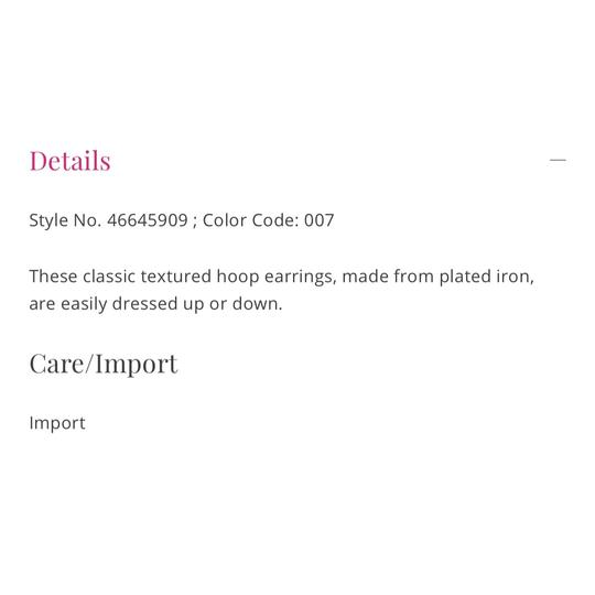 Free People free people sculpted hoop earring