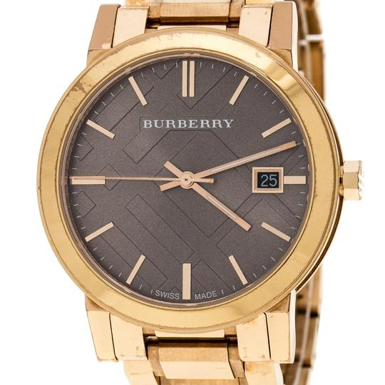 Burberry Burberry Beige Rose Gold Plated Steel The City BU9005 Wristwatch 38mm