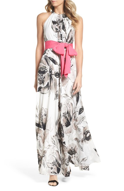 Eliza J Halter Gown Chiffon Maxi Dress