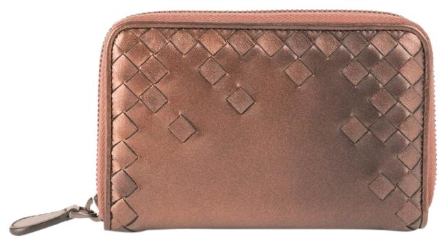 Bottega Veneta Bronze New Woven Leather Wallet Bottega Veneta Bronze New Woven Leather Wallet Image 1