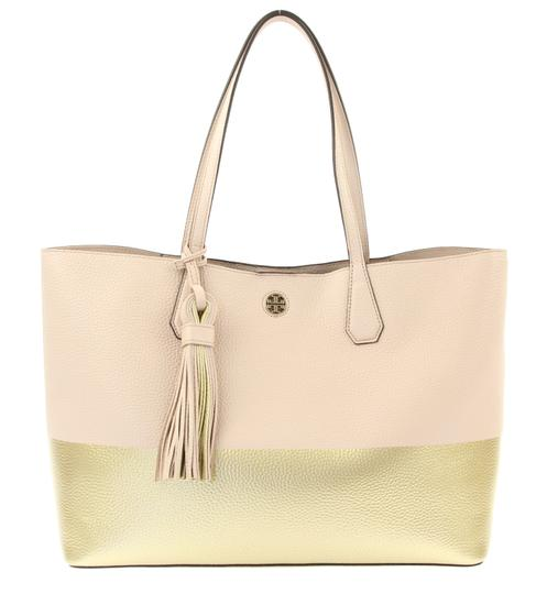 Preload https://img-static.tradesy.com/item/23651882/tory-burch-perry-color-block-light-oak-and-gold-multicolor-leather-tote-0-2-540-540.jpg
