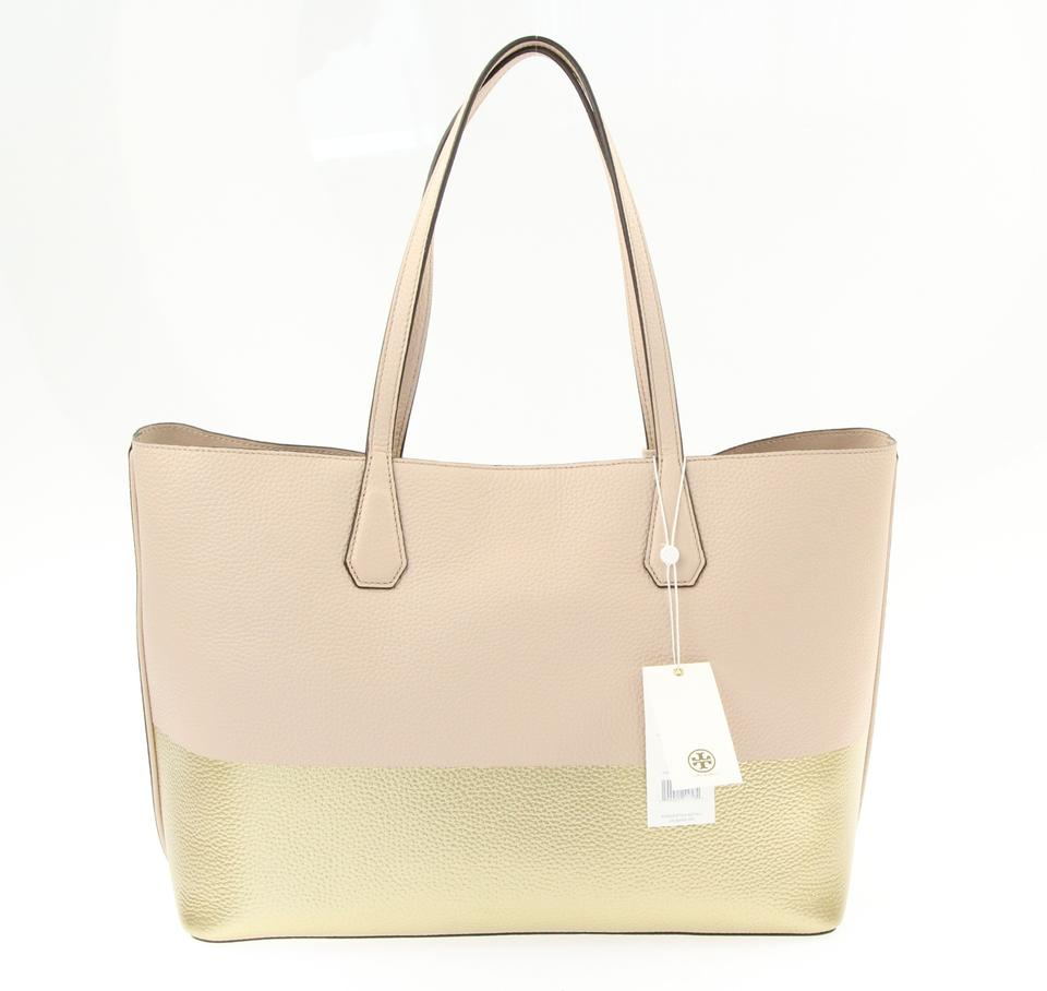 Burch Leather Light block Gold Oak Tote Tory Color Perry and R6nZqOOwW